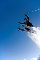 Ski Jumper in Midair