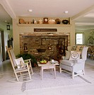 Country family room with rocking chair