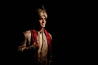 Indian groom in traditional attire