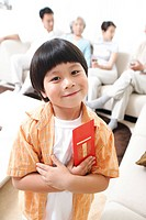 Boy with Red Envelope