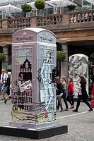 BT ArtBox, telephone booth art project, design by Harvey Nichols London in Covent Garden, London, England, United Kingdom, Europe