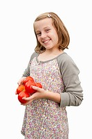 Cut Out Of Girl Carrying Fresh Tomatoes