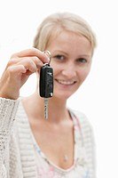 Cut Out Of Teenage Girl Holding Car Key