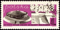 Death Camp _ MAJDANEK on polish post stamp