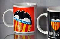 Valencia, Spain: cup of Valencia Football Club at Museo de las Ciencias Príncipe Felipe, at Ciudad de las Artes y Las Ciencias