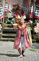 Barong dance ,show of theatre inspired in Ramayana in Ubud, Bali, Indonesia