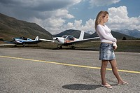 Young Girl on a Landing Strip
