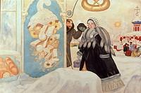Merchant Woman by Boris Mihajlovic Kustodiev, 1920, 1878_1927, Russia, Tomsk, Tomsk Regional Arts Museum