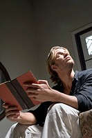 Pensive Man with Book
