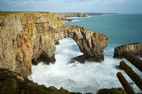 Green Bridge of Wales, Castlemartin, Pembrokeshire, Wales, UK