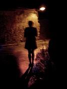 Woman at night, Corbalán, Teruel province, Aragón, Spain