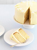 Lemon cake with gin