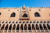 Close up of the Doge´s Palace Palazzo Ducale, Venice, Italy, Europe