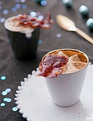 Chestnut cream with bacon Christmas