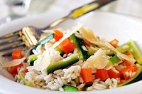Risotto Primavera with spring vegetables