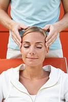 Woman Getting Head Massage