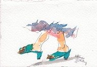 Shoes 8, watercolor
