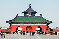 China, Beijing, Entrance Gate of Temple Of Heaven