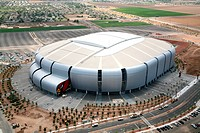Aerial view of a stadium, University of Phoenix Stadium, Glendale, Phoenix, Arizona, USA