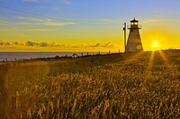 Lighthouse on the coast, Cape Tryon Light, Prince Edward Island, Canada