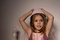 Little Girl with a Lampshade on Her Head