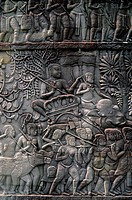 Cambodia, Angkor, Angkor Thom, Bayon Temple, Gallery With Bas_Reliefs