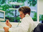 Businessman Making Phone Call