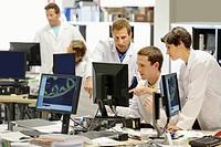 Researchers, office, Tecnalia Foundation, Technology and Research Centre, San Sebastian Technological Park, Donostia, Gipuzkoa, Basque Country, Spain