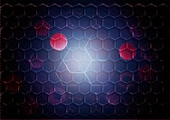 Abstract background form of honeycombs