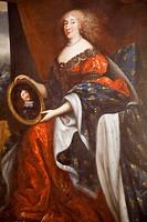 France, Loire Valley, Chambord Castle, Portrait of Anne_Marie Louise d´Orleans aka La Grande Mademoiselle