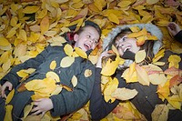 Sisters Covered with Leaves