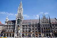 Town hall, Marienplatz, Munich, Bavaria, Germany