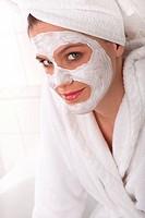 Body care series _ Young lady with facial mask