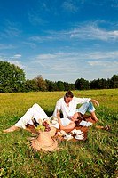 Picnic _ Romantic couple in spring nature