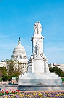 Peace monument, US Capitol building, National Mall