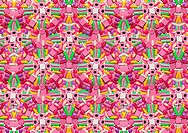 A kaleidoscope of candy and sweets making a patter