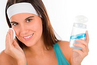 Teenager problem skin care _ woman cleanse