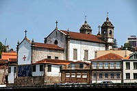 Church in the banks of the Douro river, Porto, Portugal
