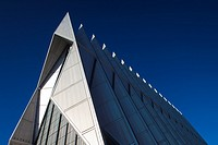 USA, Colorado, Colorado Springs, United States Air Force Academy, Cadet's Chapel, exterior