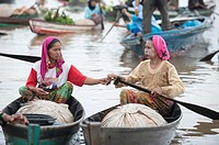 floating market near Banjarmasin,South-Kalimantan,Borneo,Indonesua