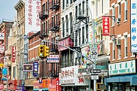 Bowery street, Chinatown, Manhattan, New York City  USA.