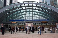 Canary Wharf subway station, London