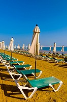 Beach at the Israeli side of the Dead Sea, Leonardo Plaza Dead Sea Hotel at the Dead Sea, Israel