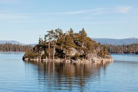 Fannette Island is the only island in Lake Tahoe, California/Nevada, United States  It lies within Emerald Bay