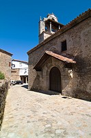 Parish Church of San Martin de Castañar, XIII century. Salamanca. Castile and León. Spain. Europe.