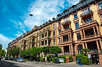 Bahnhofstrasse street central Wiesbaden city state of Hesse Germany Europe