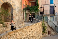 The perched village of Toudon, Alpes-Maritimes, Esteron Valley, Provence-Alpes-C&#244;te d'Azur, France