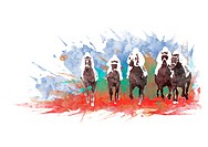 Horse Riders Racing