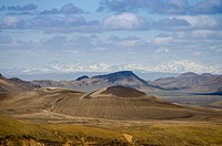 Mt Tjaldfell, Landmannalaugar, Fjallabak Nature Reserve, Highlands, Iceland, Europe