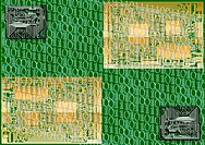 Technological background with circuit board